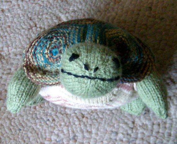 Knitted Turtle Pattern : Hex the knit stuffed tortoise turtle