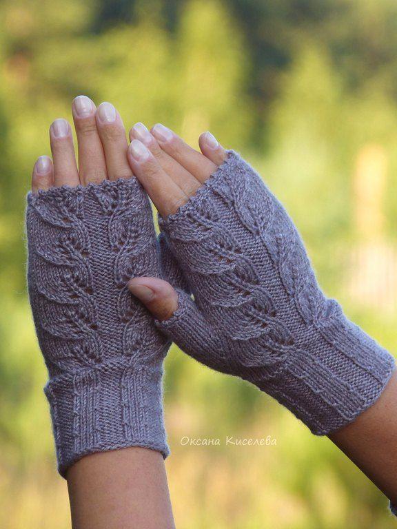Вязать перчатки без пальцев с одним