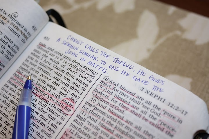 Different way to look at marking those beloved scriptures so you learn more.  Who knew you could learn so much by using more ways than underline....maybe I need to break out my books instead of my phone afterall