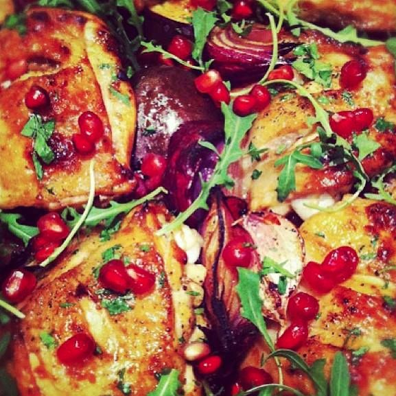 Perfect Roast Chicken With Pomegranate Jus Recipes — Dishmaps