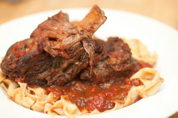 Braised Short Ribs in a Spicy Tomato Sauce