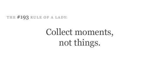 The #193 Rule of a Lady.