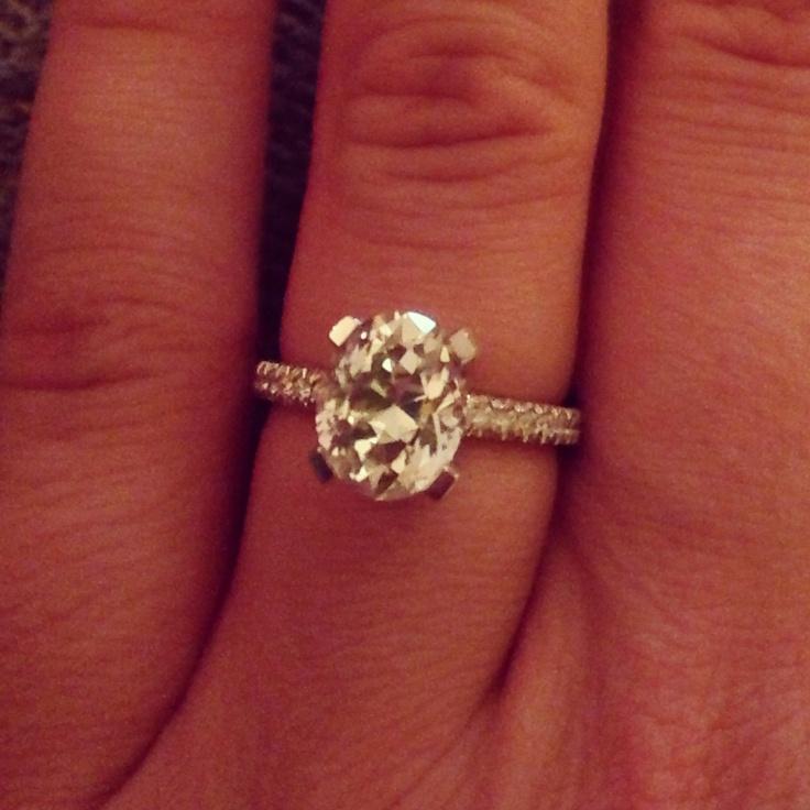 2 5 carat oval cut engagement ring Adiamor setting wedding ideas