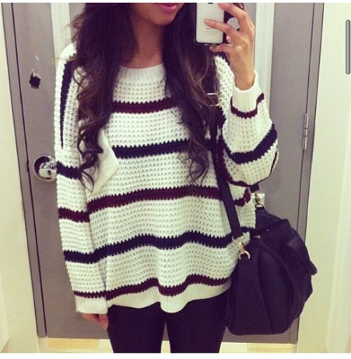 I love this oversized sweater.