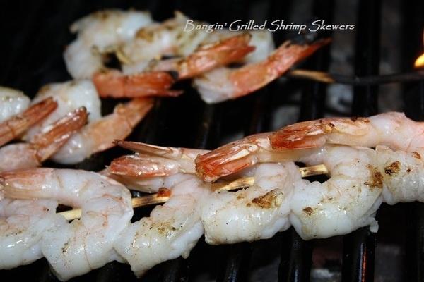 Bangin' Grilled Shrimp Skewers | Nibbles | Pinterest