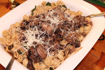 Cabernet Braised Short Ribs with Swiss Chard and Orrechiette