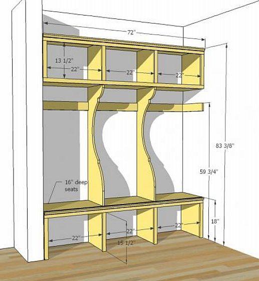 Mudroom Storage Diy : Diy mudroom lockers plans organizing pinterest