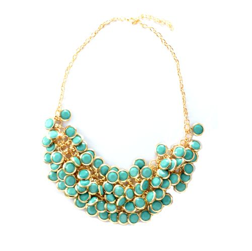 Statement necklace featuring this year's spring color: BLUE.