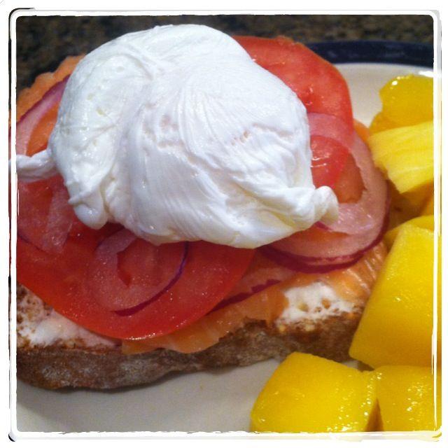 - gluten free toast, goat cheese, red onion, tomato, smoked salmon ...
