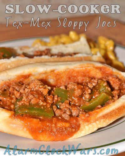 Tex-Mex Sloppy Joes. A taco spin on the classic sloppy Joe - from ...