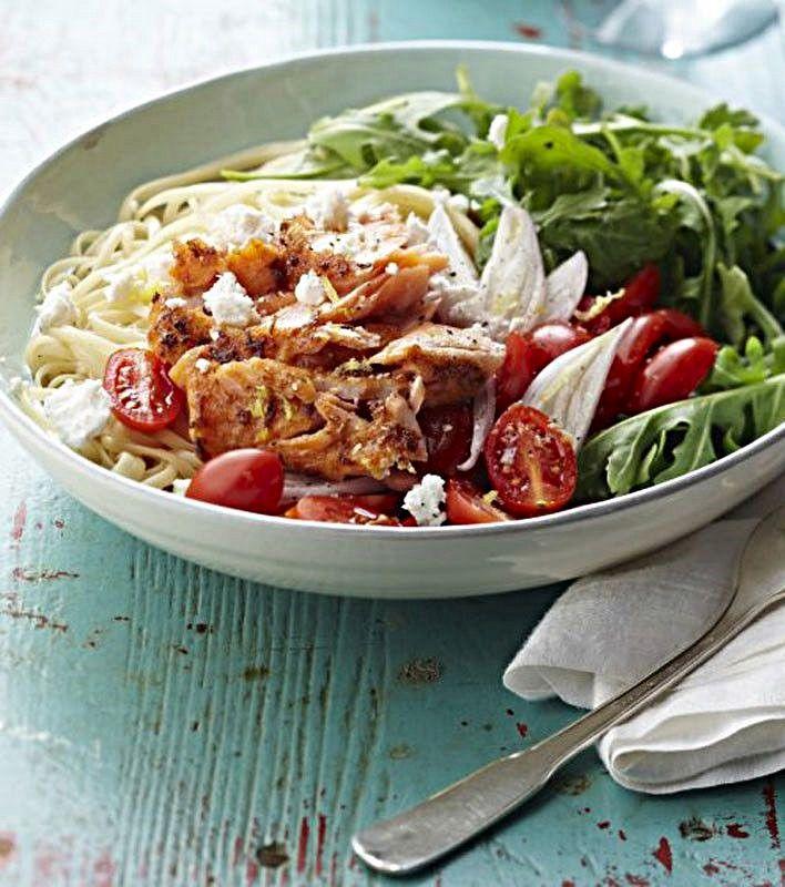 Warm Salmon and Arugula Pasta Salad#TARTCollections