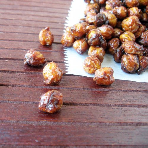 Homemade Snacks: Sweet and Salty Roasted Chickpeas #recipe