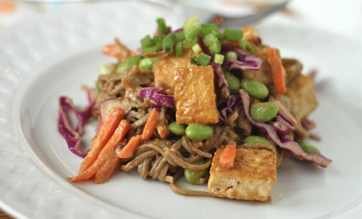 Soba Noodles and Tofu with Spicy Peanut Sauce | Recipe