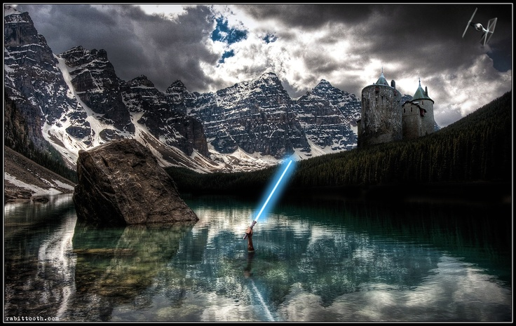 Lady of the Lake (Star Wars Lightsaber Version) by Rabittooth.deviantart.com