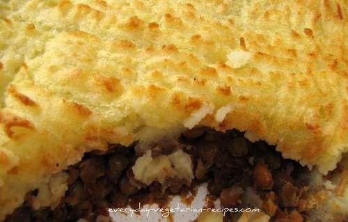 """Mediterranean Shepherds pie""""-This vegetarian shepherds pie recipe is ..."""