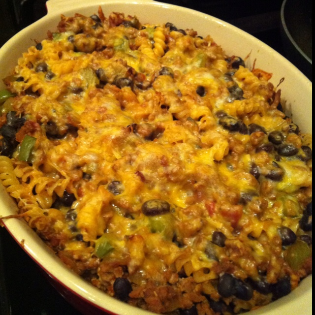 Mexican pasta casserole. | My cooking. | Pinterest