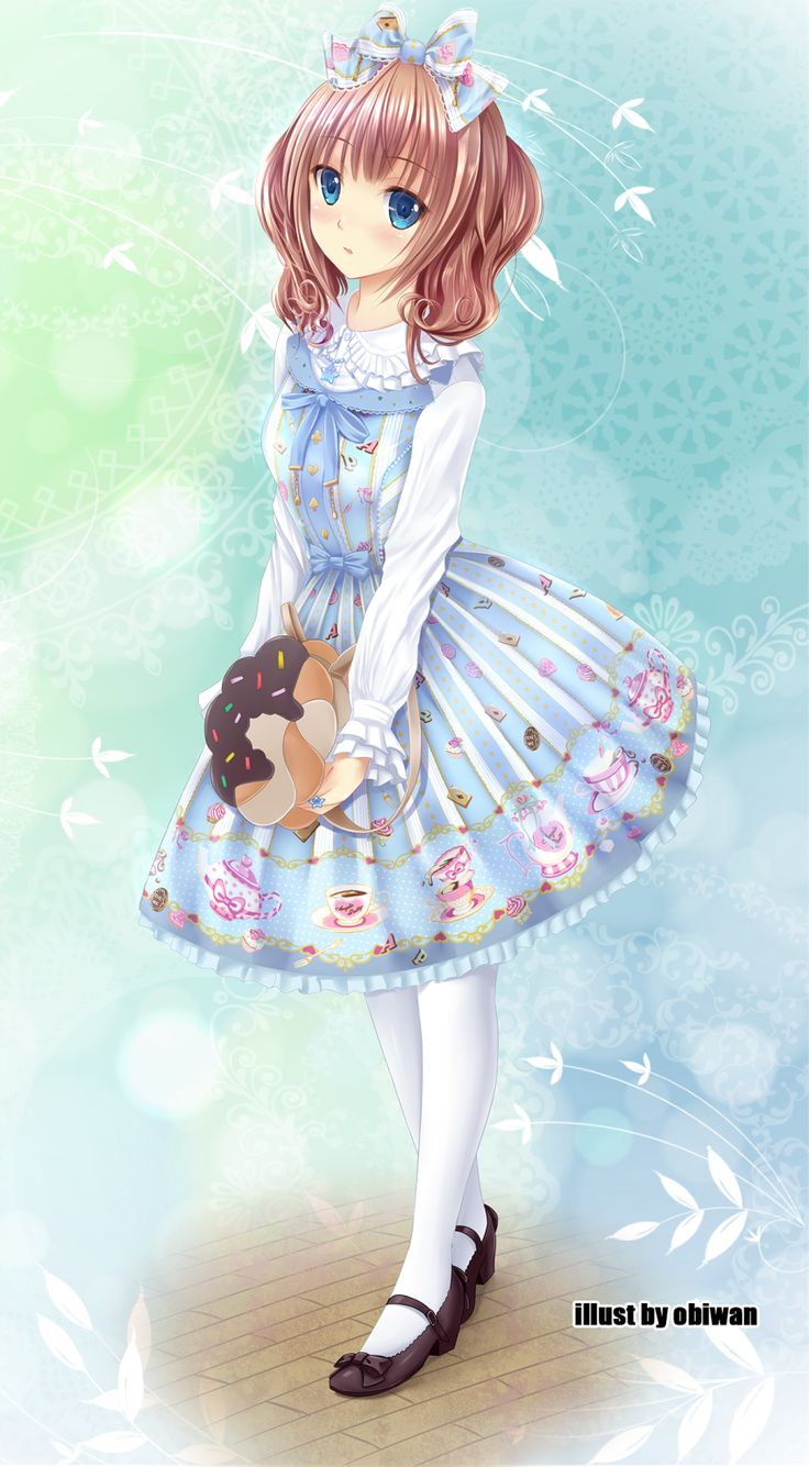 Anime Art Sweet Lolita Rorīta Fasshon Formerly Japanese
