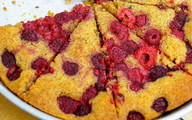 raspberry walnut tart inspired by the Lovely Food Blog.