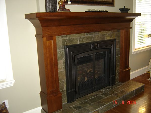 Craftsman style fireplace mantel craftsman style pinterest for Craftsman style fireplace mantel plans