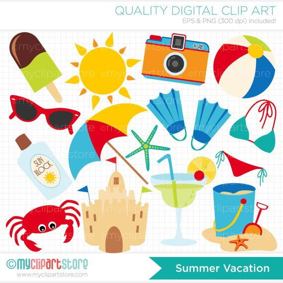 summer vacation clipart - photo #15