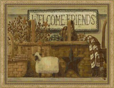 Cottage Crafts: Primitive Welcome | Country Prim | Pinterest
