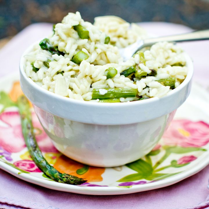 asparagus and goat cheese risotto | Noms | Pinterest