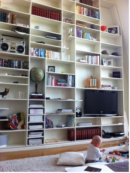floor to ceiling shelving let 39 s decorate pinterest. Black Bedroom Furniture Sets. Home Design Ideas