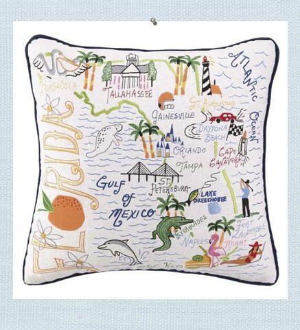Seaside Inspired   Beach Decor   florida pillow from SeasideInspired.com.