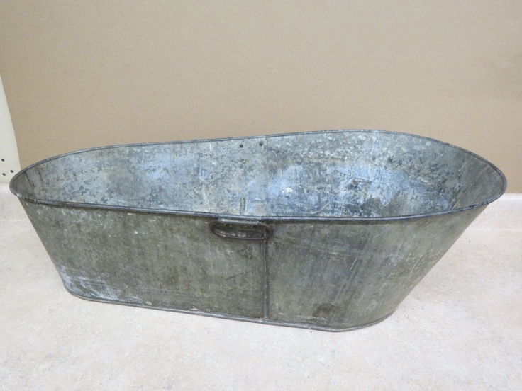 antique tin metal baby wash tub events lowcountry boil
