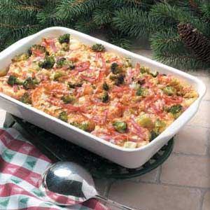 Ham and Broccoli Strata-I think I'll switch this to bacon though