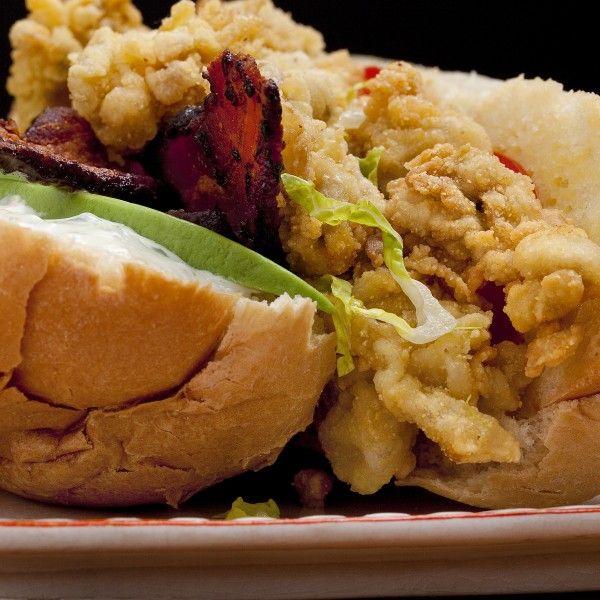 Fried Oyster Po'boy With Jalapeño Mayonnaise And Avocado | Emerils ...