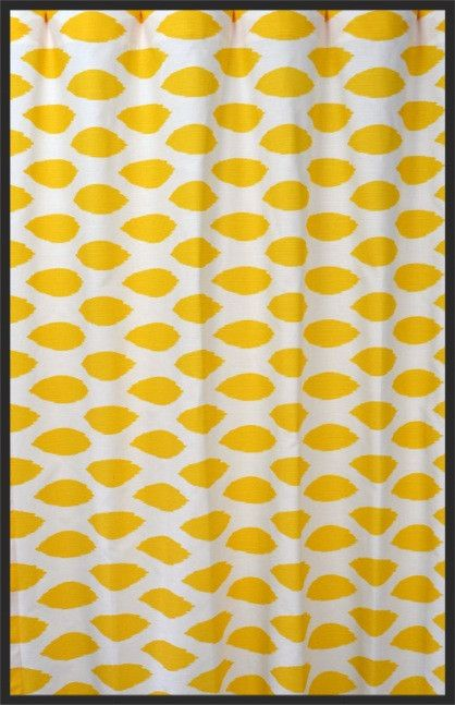 Yellow and White Ikat Curtain Panel | Baby Things | Pinterest