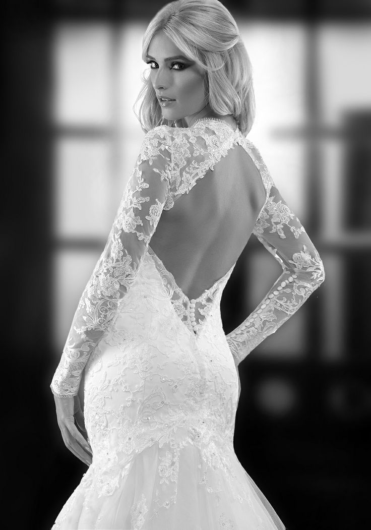 Maria open back luxury lace wedding dress by bien savvy shop your