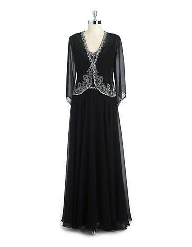 Dresses mother of bride embellished chiffon jacket dress lord