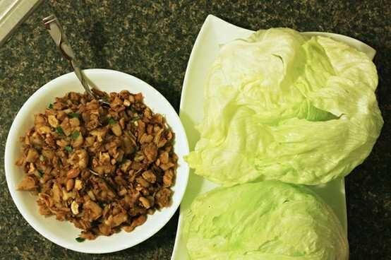 Chicken & Cashew Chicken Lettuce Wraps. | eat | Pinterest