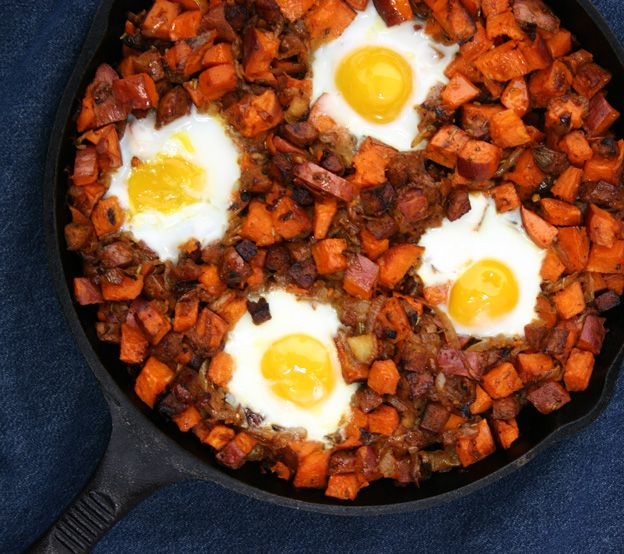 Sweet Potato Hash with Sausage and Eggs from our newsletter -- nice ...