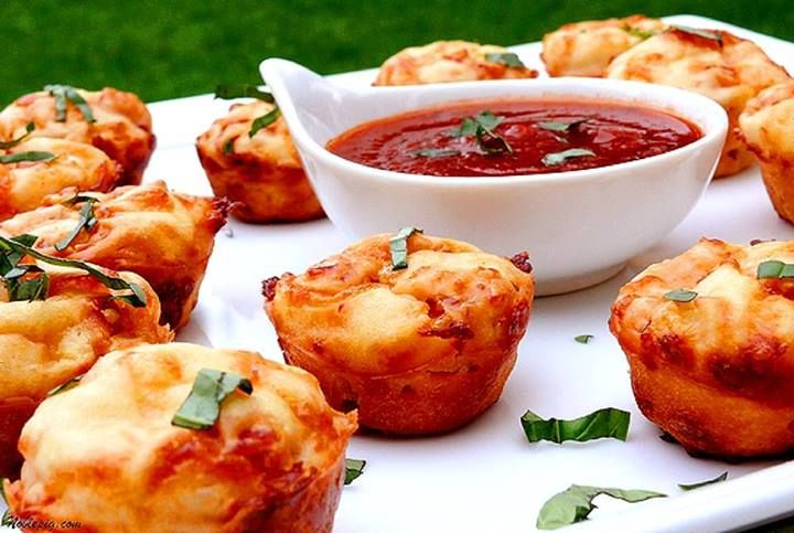 Pepperoni Pizza Puffs | APPETIZERS, DIPS & SPREADS | Pinterest