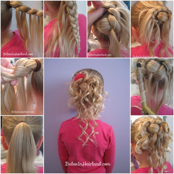 Waterfall braid hairstyles for little girls