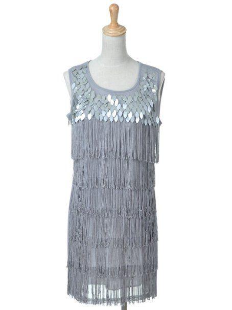 Black great gatsby twenty s era inspired fringe party dress clothing