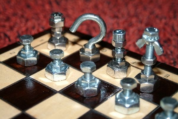 7 unique nut and bolt chess sets recycling hardware waste
