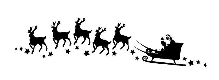 Santa Sleigh Silhouette Gif Santa's sleigh silhouette holiday custom ...
