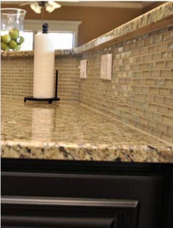 pretty clear tile backsplash home design pinterest