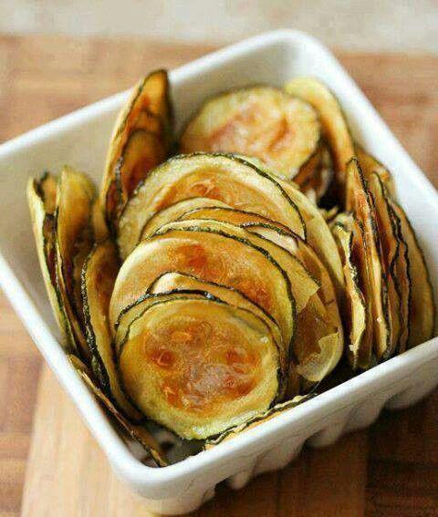 Zucchini chips | Healthy Eats | Pinterest