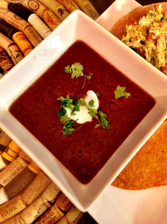 Salsa and Black Bean Soup | Les Noms | Pinterest