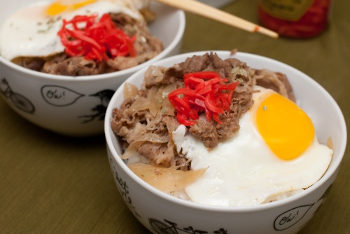 Gyudon Beef Rice Bowl by www.nobodyreadsyourblog.com/