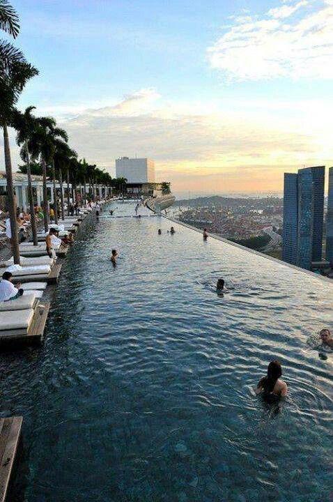 Marina Bay Sands Casino Infinity Pool Roof Deck Pinterest