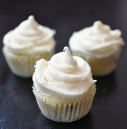 Lemon, Blueberry & Coconut Cupcakes with Lemon Cream Cheese Frosting