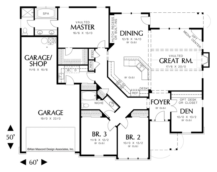 Mascord house plan 1231 House plans mascord