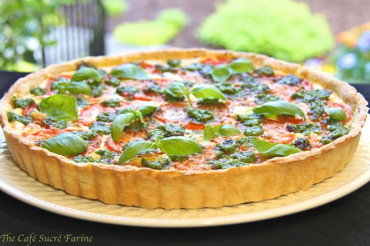 Herbed ricotta and tomato tart