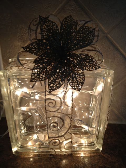 Glass block christmas decoration crafts pinterest - Glass block decoration ideas ...
